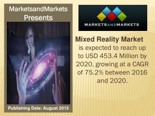 Mixed Reality Market worth 453.4 Million USD by 2020