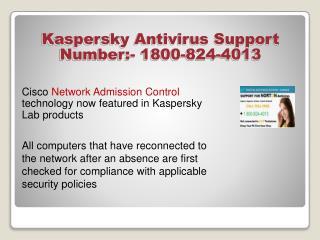 Kaspersky Antivirus Tech  Support Number 18008244013