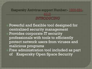 Kaspersky Antivirus Support Phone  1800-824-4013