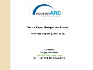 Waste Paper Management Market