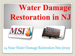 Water Damage Restoration in NJ