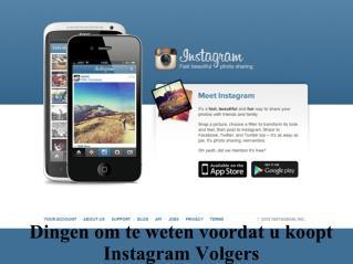 Dingen om te weten voordat u koopt Instagram Volgers