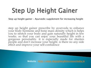 Step Up Height Gainer