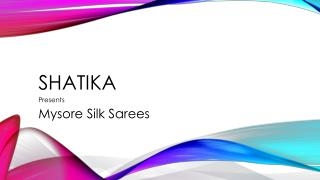 Shop for Mysore Silk Sarees Online