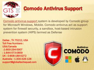 Comodo Antivirus Support Toll Free 1-800-294-5907