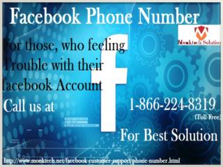 Get best Solution with Facebook Customer Support at 1-866-224-8319