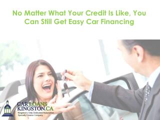 No Matter What Your Credit Is Like, You Can Still Get Easy Car Financing