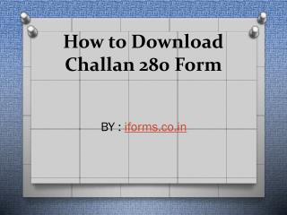 Know the challan 280 status online