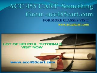 ACC 455 CART  Something Great -acc455cart.com
