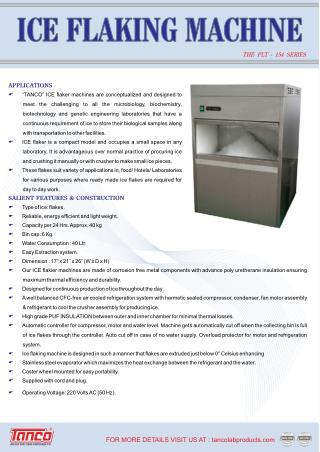 Ice Flaking Machine - Manufacturer - Tanco Lab Products India