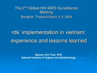 Rds  implementation in vietnam: experience and lessons learned