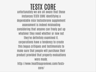 TESTX CORE