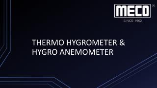 THERMO HYGROMETER by Meco