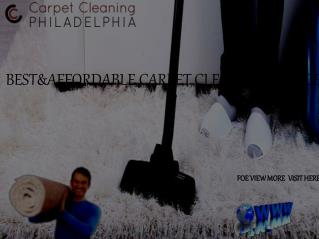 Carpet Cleaning in Philadelphia PA