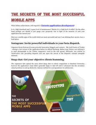 The Secrets of the Most Successful Mobile Apps