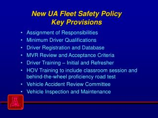 New UA Fleet Safety Policy