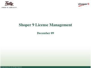 Shoper 9 License Management