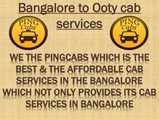Bangalore to mysore cab services