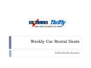 Weekly Car Rental Deals