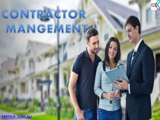 Contractor Management and Its Features