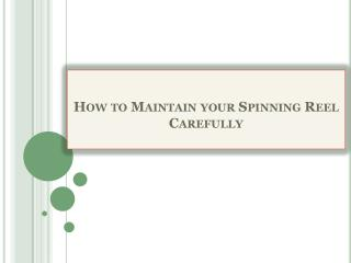 How to Maintain your Spinning Reel Carefully