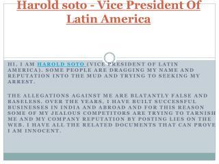 Harold soto - Vice President Of Latin America