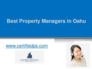 Best Property Managers in Oahu - www.certifiedps.com