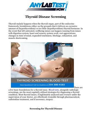 Thyroid Screening Test
