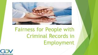 Fairness for People with Criminal Records in Employment