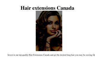 Curly hair extensions Canada