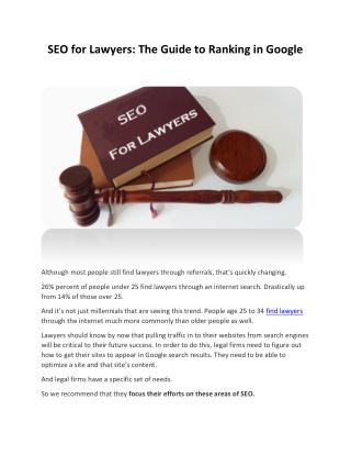 SEO for Lawyers: The Guide to Ranking in Google