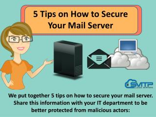 5 Tips on How to Secure Your Mail Server