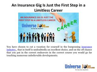 An Insurance Gig Is Just the First Step in a Limitless Career