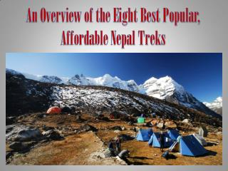 An Overview of the Eight Best Popular, Affordable Nepal Treks