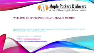 Best Packers and Movers in Mumbai- Maple Packers and Movers Mumbai