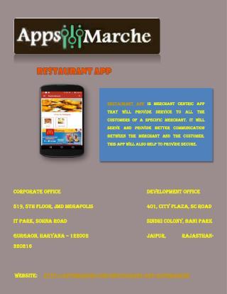 Restaurant App | Local Restaurants | Marche online