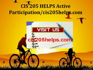 CIS 205 HELPS Active Participation/cis205helps.com