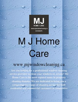 Window and Gutter Cleaning in Victoria BC