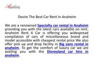 Disneyland car hire in anaheim