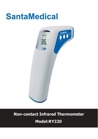 SantaMedical Professional Clinical Large LCD Non-Contact Infrared Thermometer
