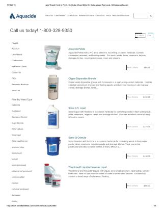 Lake Weed Control Products from Aquacide