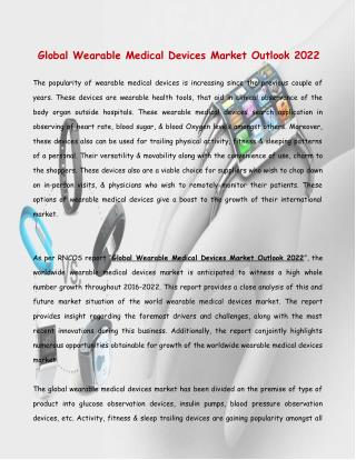 Global wearable Medical Devices Market Outlook 2022