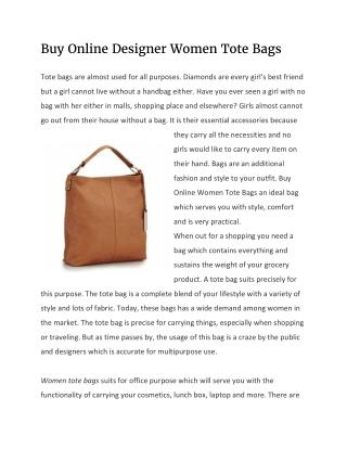 Buy Online Designer Women Tote Bags