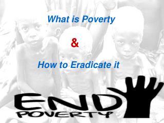 How to Eradicate Poverty - Jacob Milton