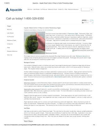 Ways to Control Filamentous Algae Control