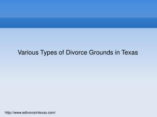 Various Types of Divorce Grounds of Divorce in Texas