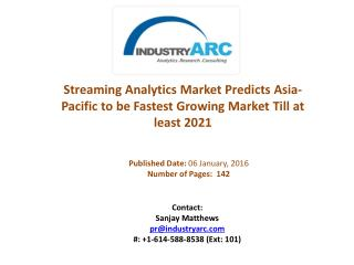 Streaming Analytics Market: Asia-Pacific Demand Growth Led By New TIBCO Insight Platform