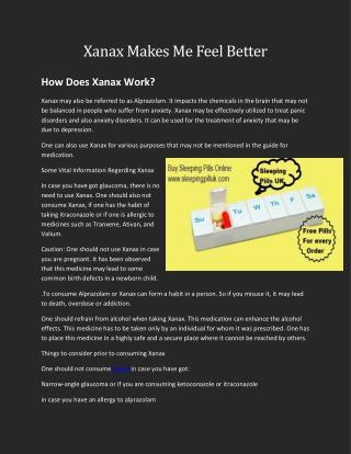 Xanax Online UK-Sleeping Pills UK