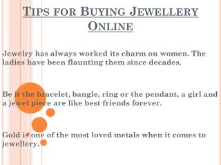 Things To Be Remember While Buying Jewellery Online