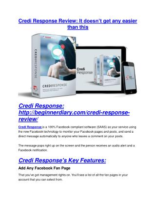Credi Response review and (MEGA) bonuses – Credi Response